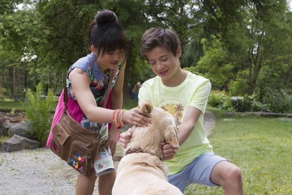 Davis Cleveland and Haley Tju in Rufus (2016)