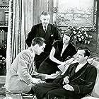 Tyrone Power, Gene Tierney, Herbert Marshall, and John Payne in The Razor's Edge (1946)