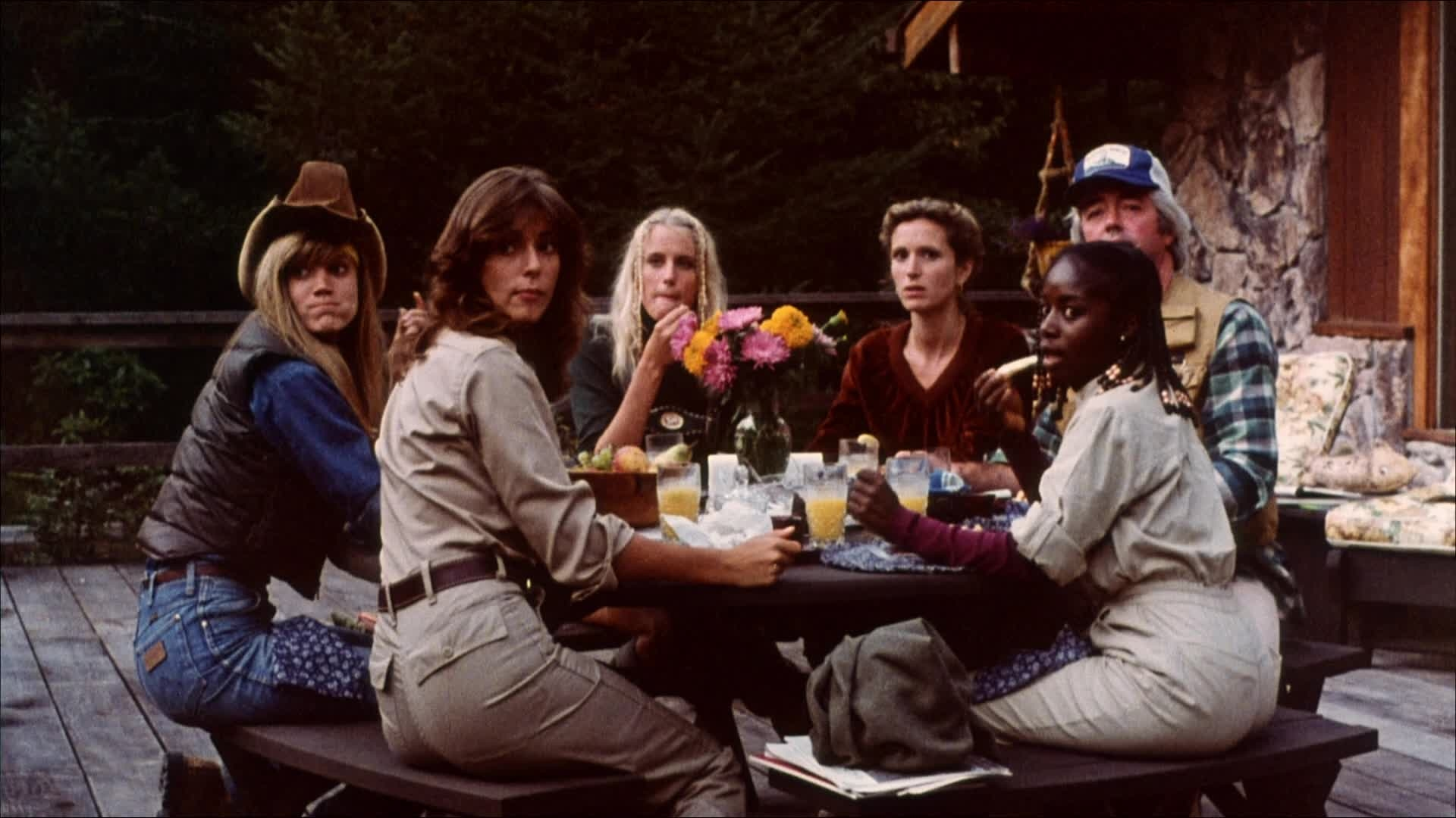Daryl Hannah, Rachel Ward, Akosua Busia, and Cindy Harrell in The Final Terror (1983)