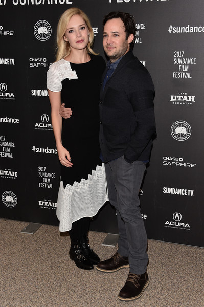 Danny Strong and Caitlin Mehner at an event for Rebel in the Rye (2017)