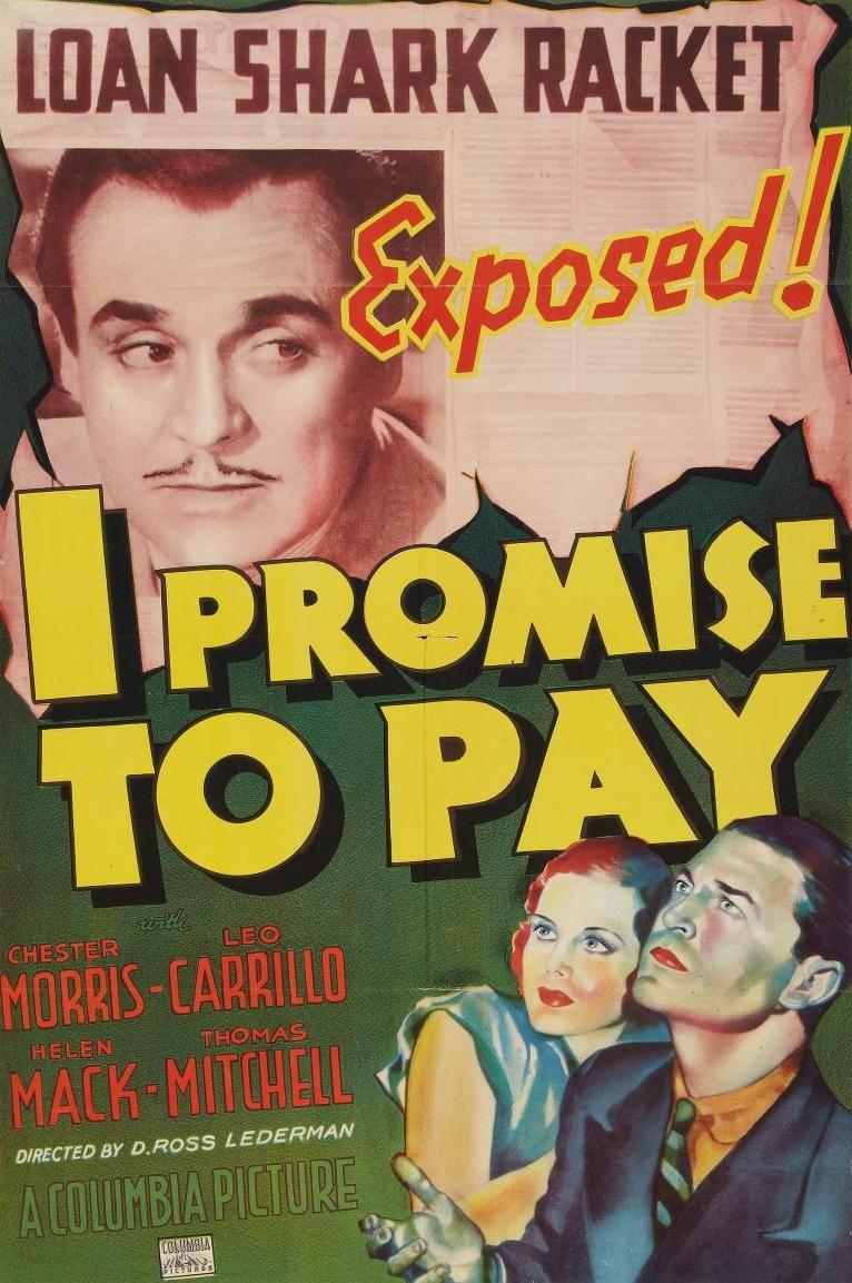 Leo Carrillo, Helen Mack, and Chester Morris in I Promise to Pay (1937)