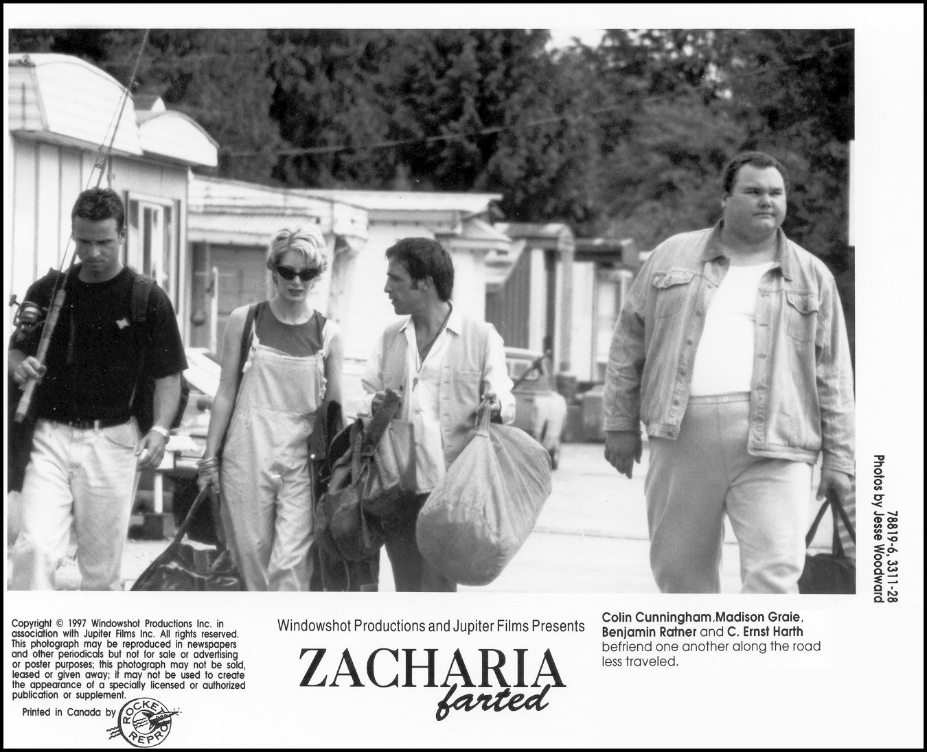 C. Ernst Harth, Colin Cunningham, Madison Graie, and Benjamin Ratner in Zacharia Farted (1998)