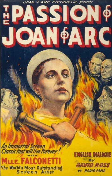 Maria Falconetti and Eugene Silvain in La passion de Jeanne d'Arc (1928)