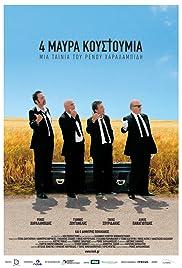 4 Black Suits Poster