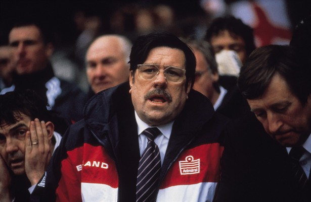 Philip Jackson, Ricky Tomlinson, and Bradley Walsh in Mike Bassett: England Manager (2001)