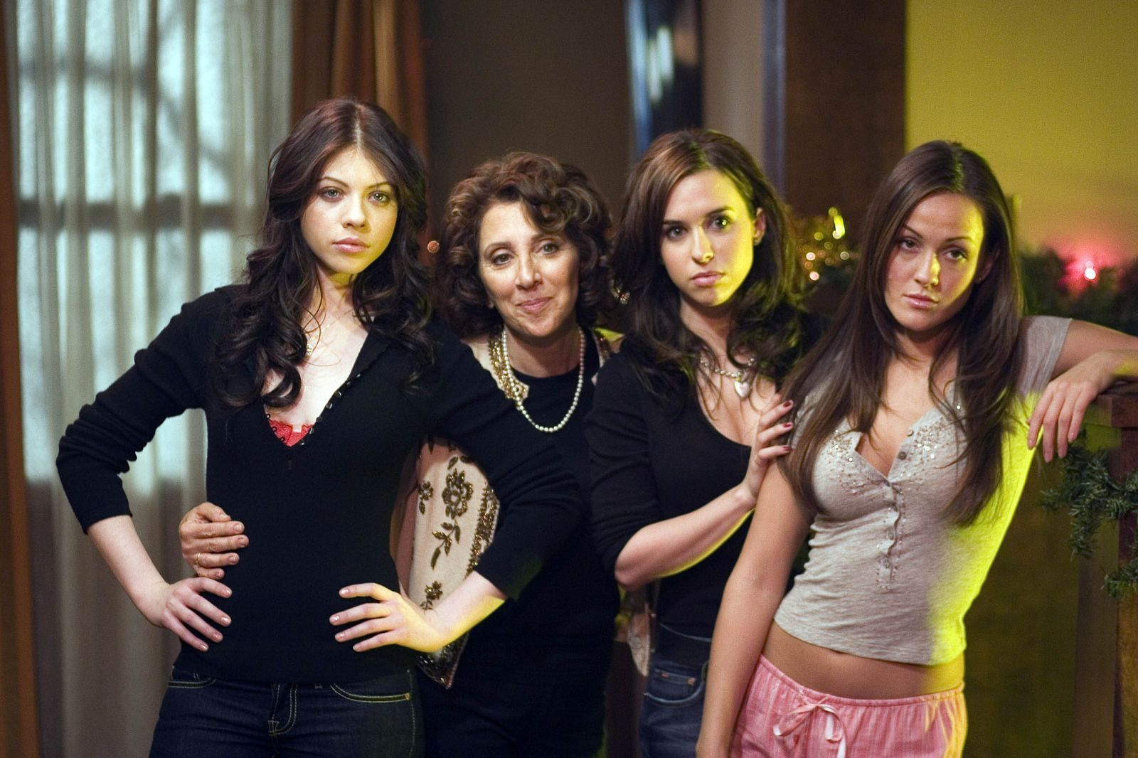 Lacey Chabert, Michelle Trachtenberg, Yan-Kay Crystal Lowe, and Andrea Martin in Black Christmas (2006)