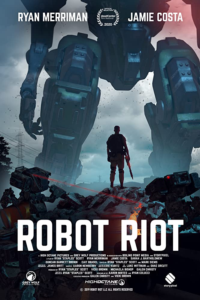 Robot Riot 2020 English 720p HDRip 796MB Download