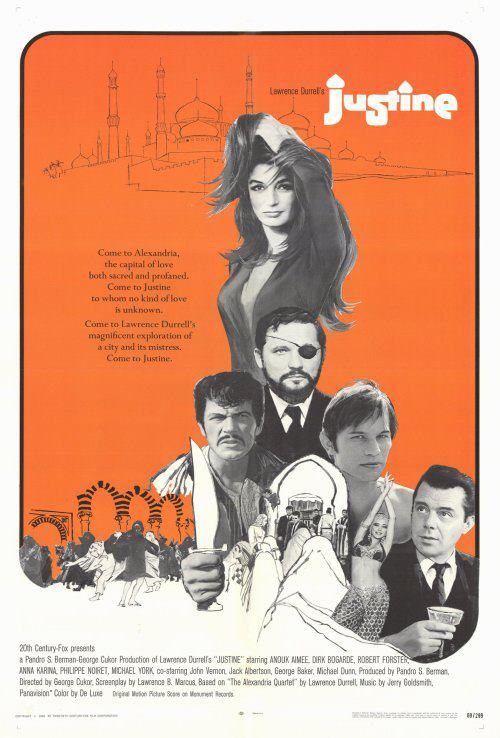 Anouk Aimée, Robert Forster, Michael York, and Dirk Bogarde in Justine (1969)