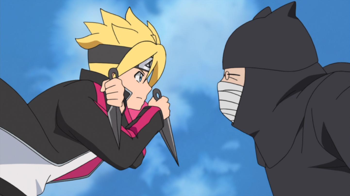 Yûko Sanpei and Kôsuke Gotô in Boruto: Jump Festa Special (2016)