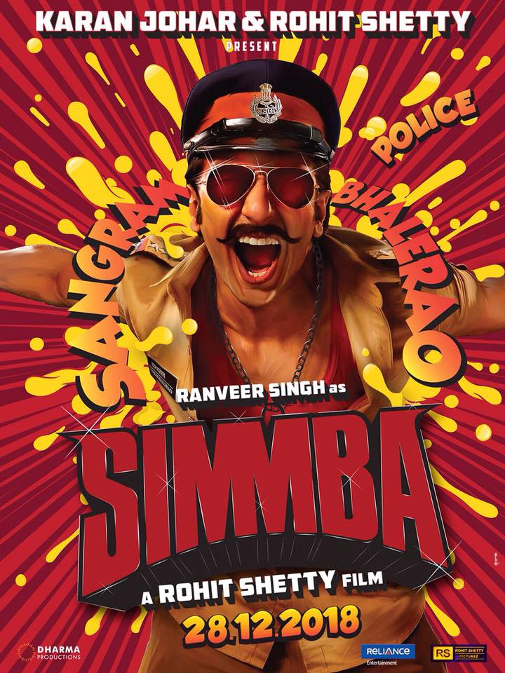 Simmba 2018 Hindi Full Movie 400MB HDRip 480p x264