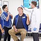 Steve Agee, America Ferrera, and Ben Feldman in Superstore (2015)