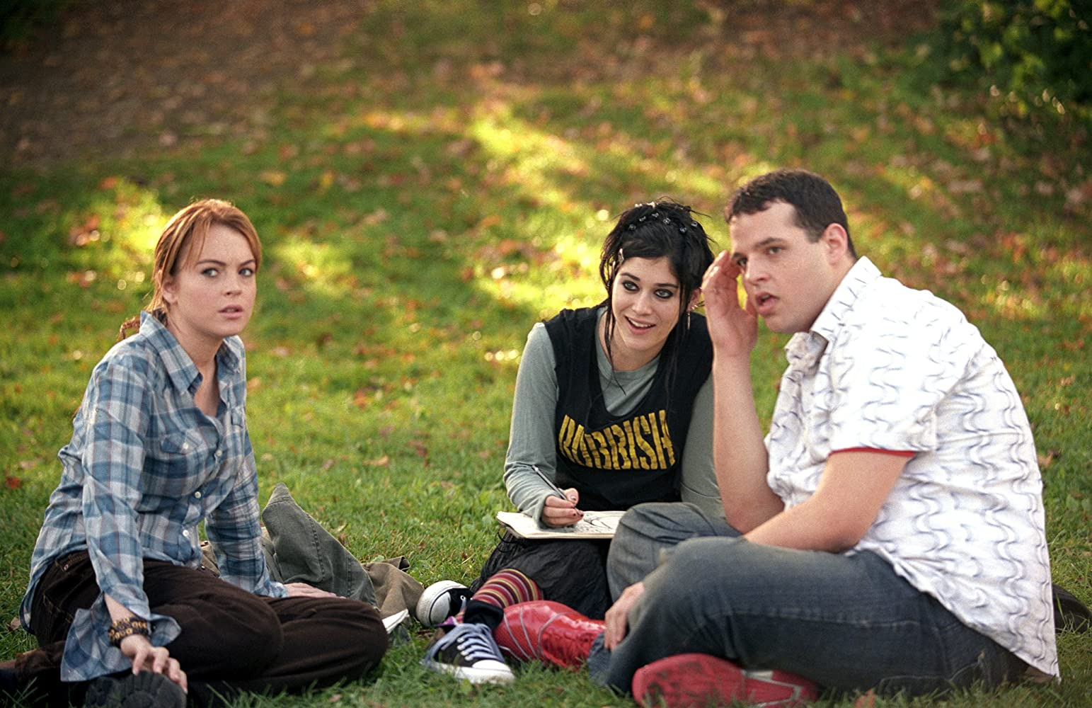 Lizzy Caplan, Daniel Franzese, and Lindsay Lohan in Mean Girls (2004)