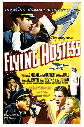 Astrid Allwyn, Judith Barrett, Andy Devine, William Gargan, and William Hall in Flying Hostess (1936)