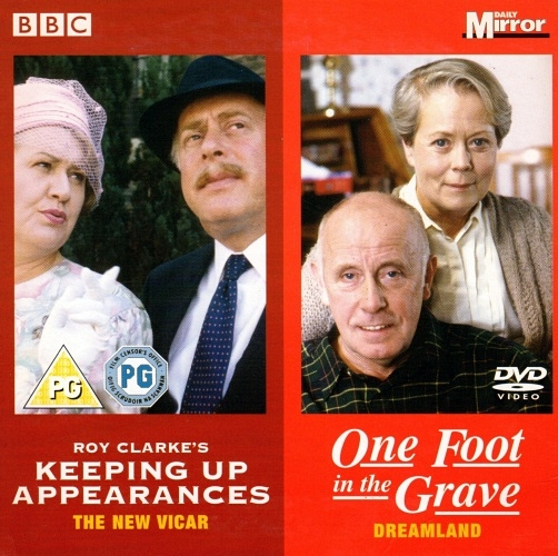 Annette Crosbie, Patricia Routledge, Clive Swift, and Richard Wilson in Keeping Up Appearances (1990)