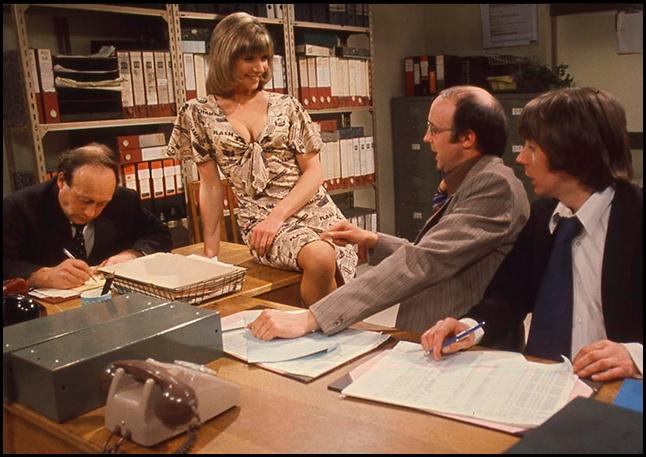 Alan David, Bernard Hepton, Ellis Jones, Ken Jones, and Karin MacCarthy in The Squirrels (1974)