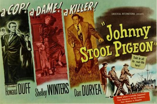 Shelley Winters, Dan Duryea, and Howard Duff in Johnny Stool Pigeon (1949)