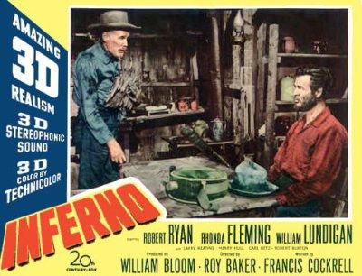 Henry Hull and Robert Ryan in Inferno (1953)