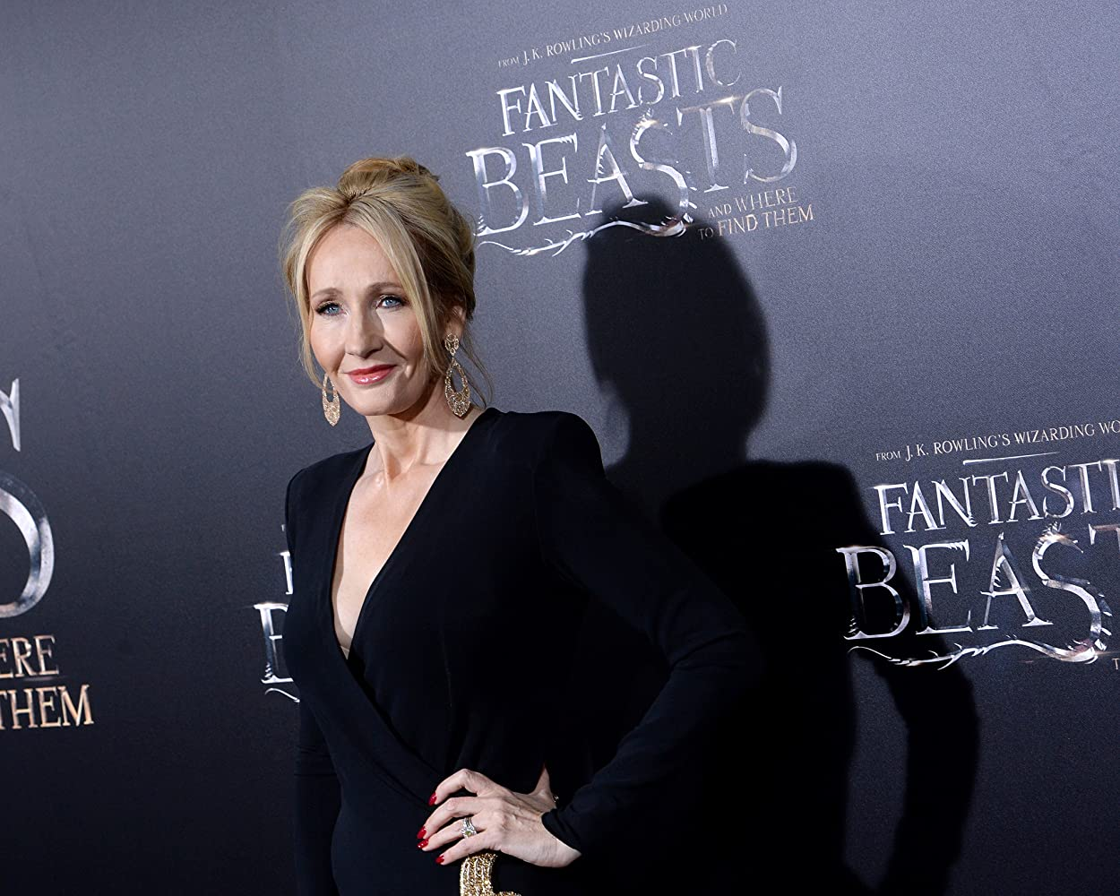 J.K. Rowling at an event for Fantastic Beasts and Where to Find Them (2016)