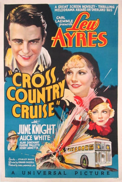Lew Ayres, Alan Dinehart, June Knight, and Alice White in Cross Country Cruise (1934)
