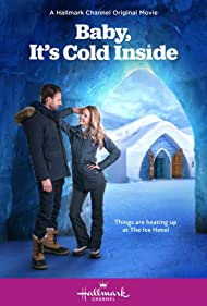Steve Lund and Jocelyn Hudon in Baby, It's Cold Inside (2021)