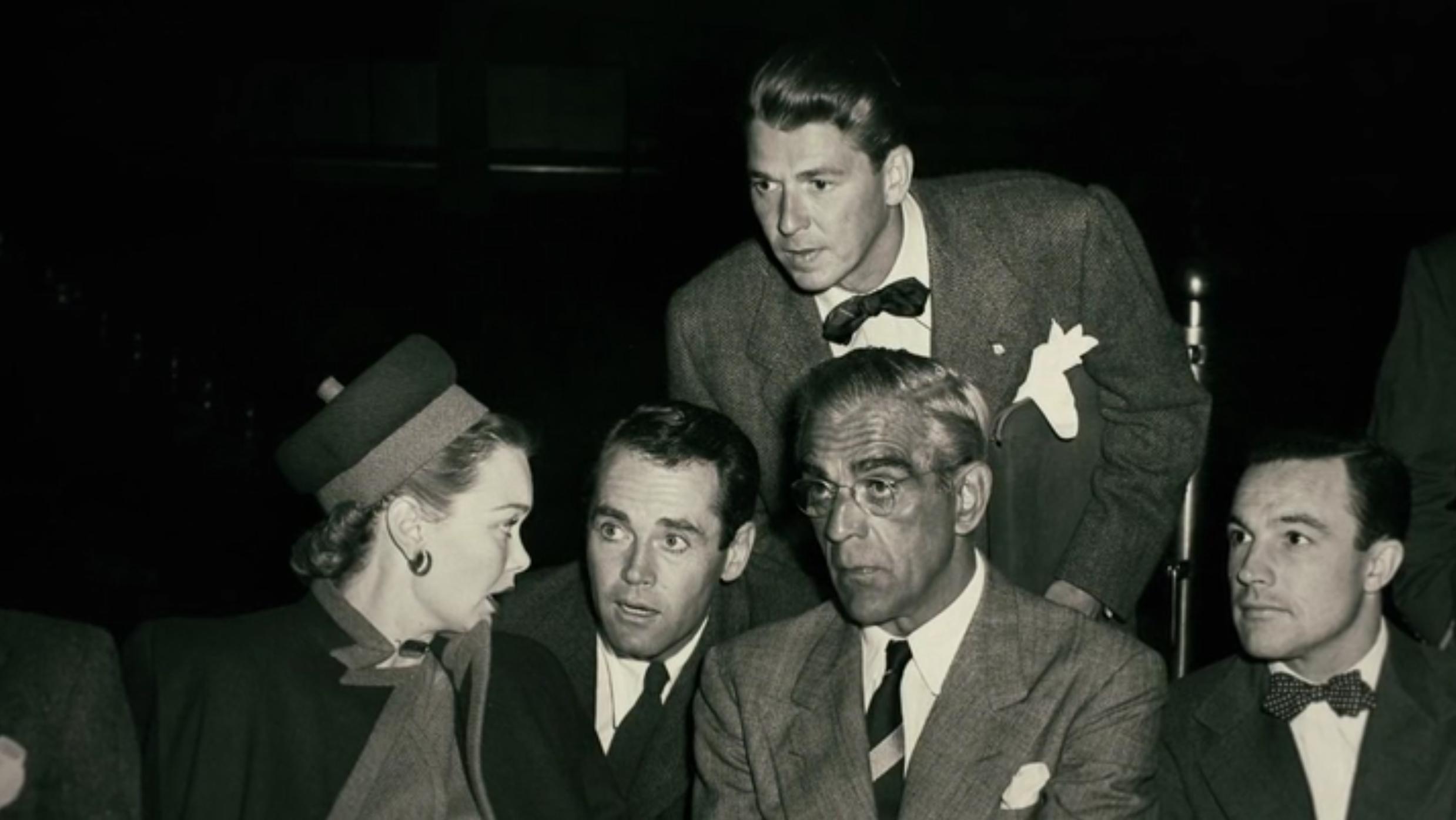 Henry Fonda, Gene Kelly, Boris Karloff, Ronald Reagan, and Jane Wyman in The Reagans (2020)