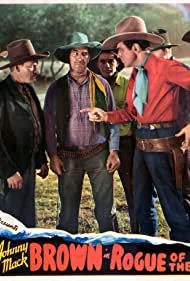 Johnny Mack Brown, Lois January, Tex Palmer, Jack Rockwell, Blackie Whiteford, and George Ball in Rogue of the Range (1936)
