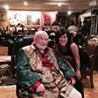 """Betty Ouyang and Ed Asner after a scene from the feature """"Citizens United"""" (2014)"""