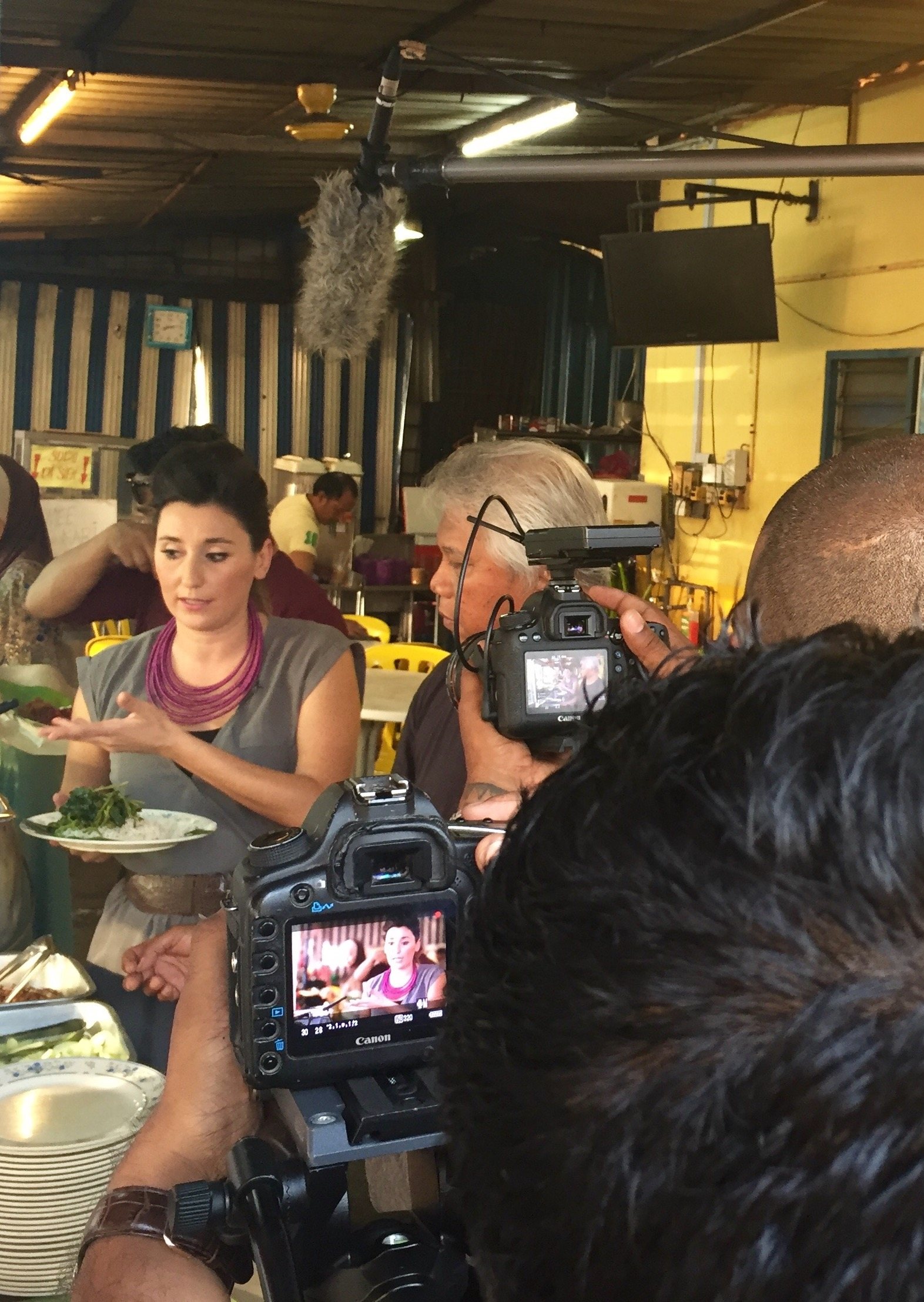 Behind the scenes-Deliciously Diverse -Gina Keatley is an award-winning dietitian and television host. Deliciously Diverse is an innovative series highlighting nutrient diversity through culinary exploration.