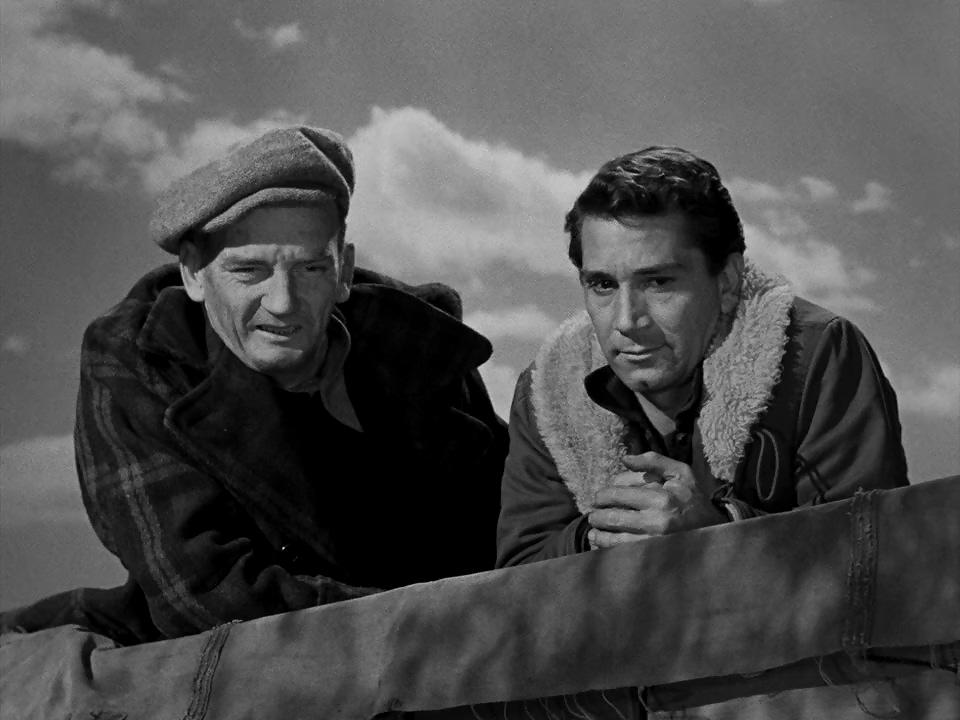 Richard Conte and Millard Mitchell in Thieves' Highway (1949)
