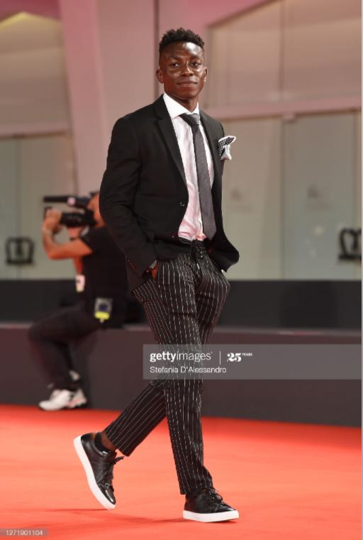 Olly at the red carpet premiere of RUN HIDE FIGHT during the International Venice Film Festival 2020
