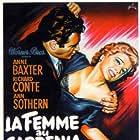 Anne Baxter and Raymond Burr in The Blue Gardenia (1953)