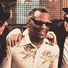 """""""Blues Brothers"""" Dan Aykroyd, Ray Charles, John Belushi"""
