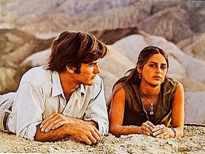 Mark Frechette and Daria Halprin in Zabriskie Point (1970)