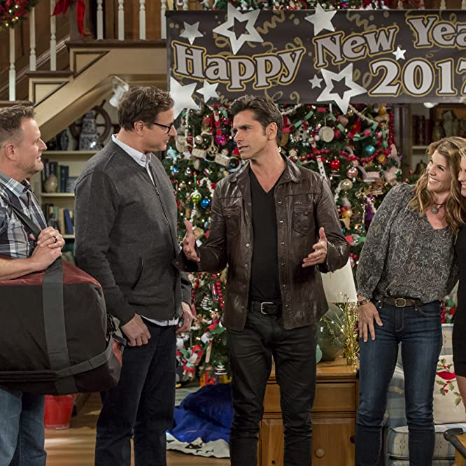 John Stamos, Candace Cameron Bure, Dave Coulier, Lori Loughlin, and Bob Saget in Fuller House (2016)