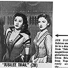 Jim Davis, Joan Leslie, and Vera Ralston in Jubilee Trail (1954)