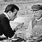 Giorgos Foundas and Orestis Makris in To koritsi tis geitonias (1954)