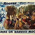 Roy Rogers, Chester Gunnels, Jack Rockwell, Matty Roubert, Dan White, and Trigger in Shine on Harvest Moon (1938)