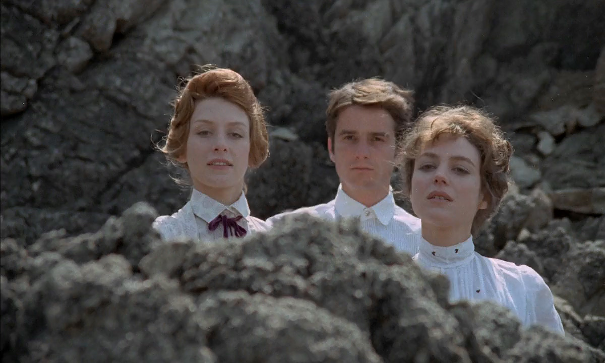 Jean-Pierre Léaud, Kika Markham, and Stacey Tendeter in Les deux Anglaises et le continent (1971)
