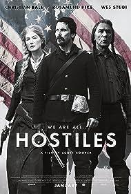 Christian Bale, Rosamund Pike, and Wes Studi in Hostiles (2017)