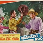 Ray Corrigan, Gwen Gaze, and John 'Dusty' King in Wrangler's Roost (1941)