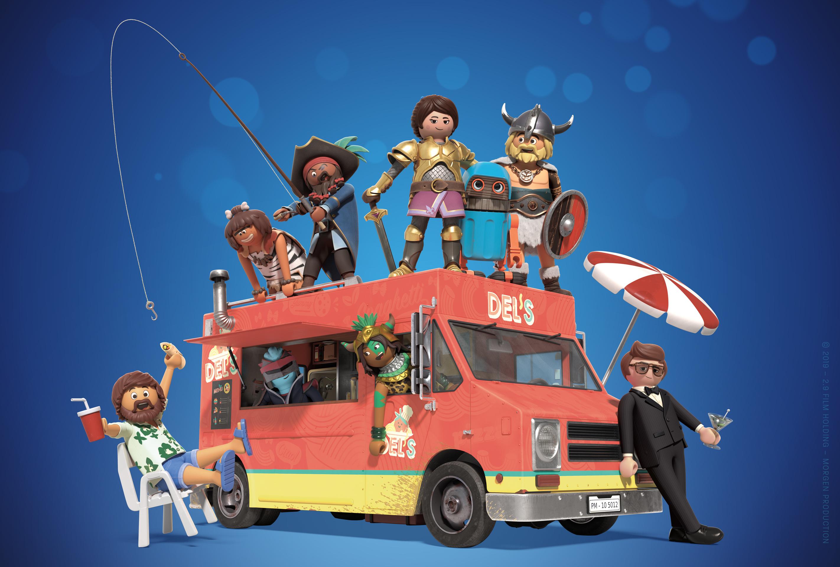Jim Gaffigan, Cindy Robinson, Kenan Thompson, Kirk Thornton, Lino DiSalvo, and Paloma Rodriguez in Playmobil: The Movie (2019)