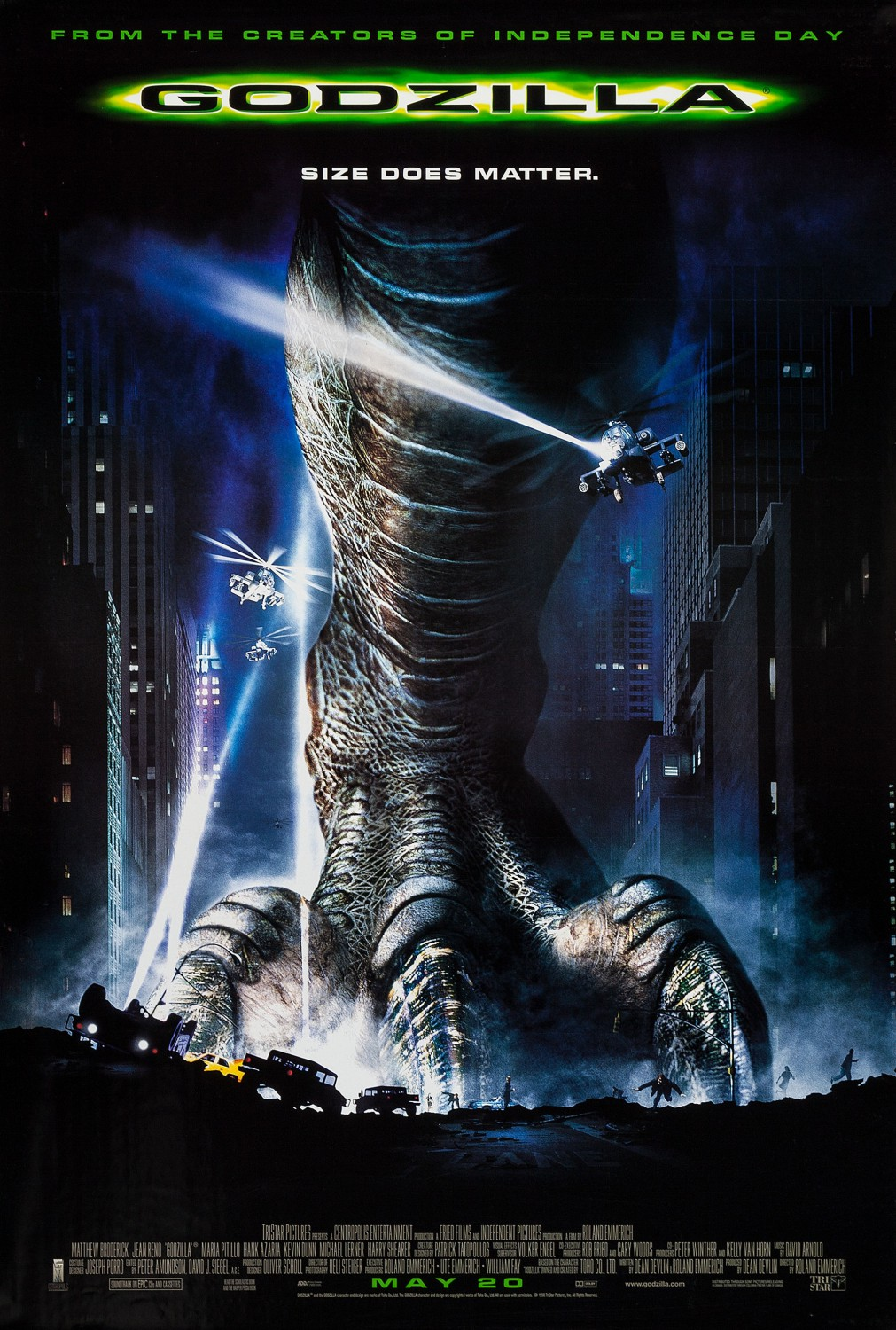 Image result for Godzilla 1998 poster