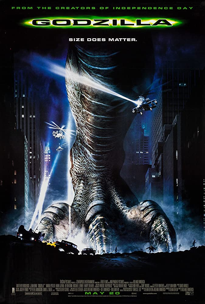 Godzilla 1998 Dual Audio Hindi 450MB BluRay ESub
