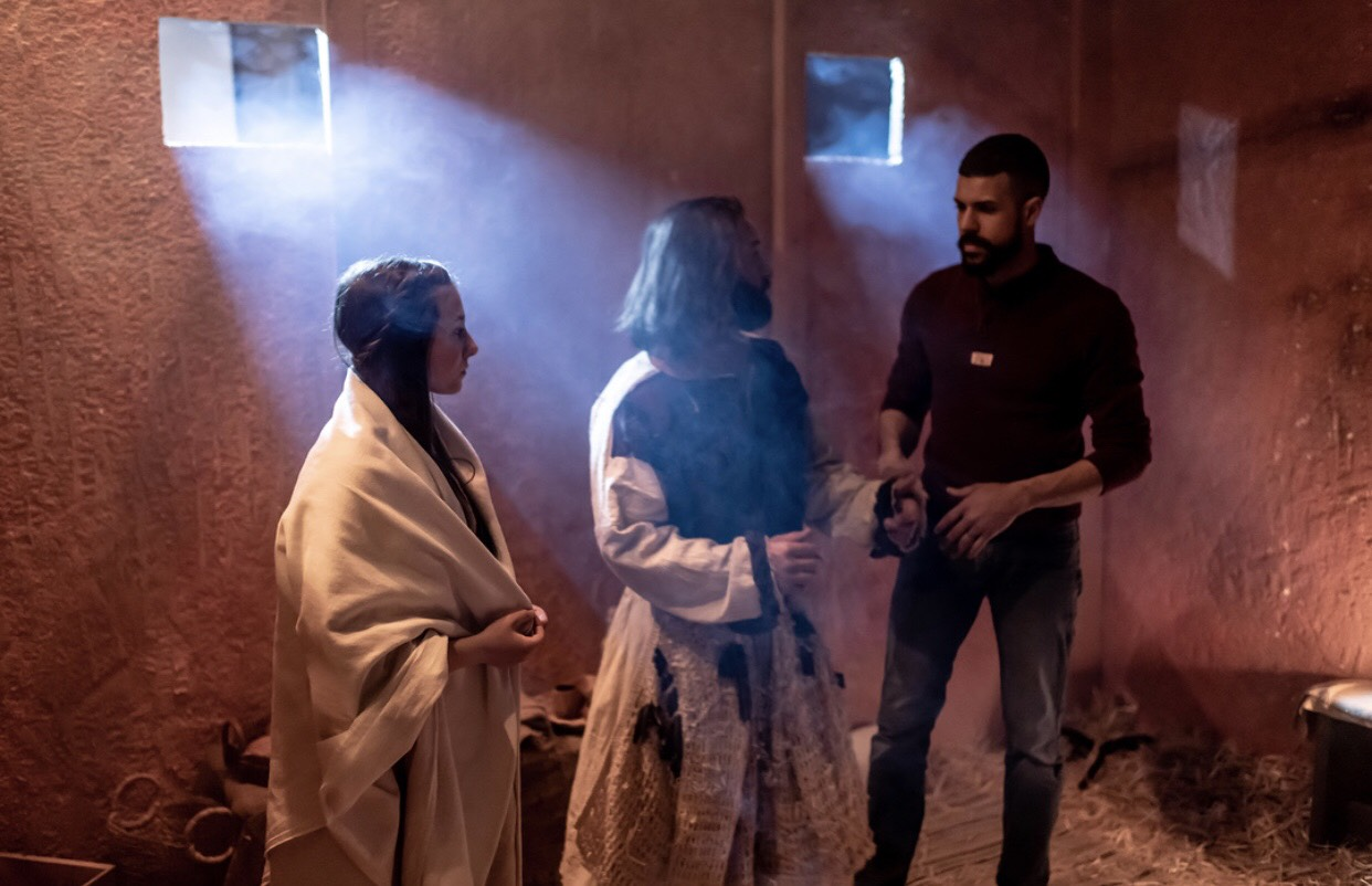 Xavier Garcia, Nathan DeHoyos, and Alyena Auer in A Blood Throne (2020)
