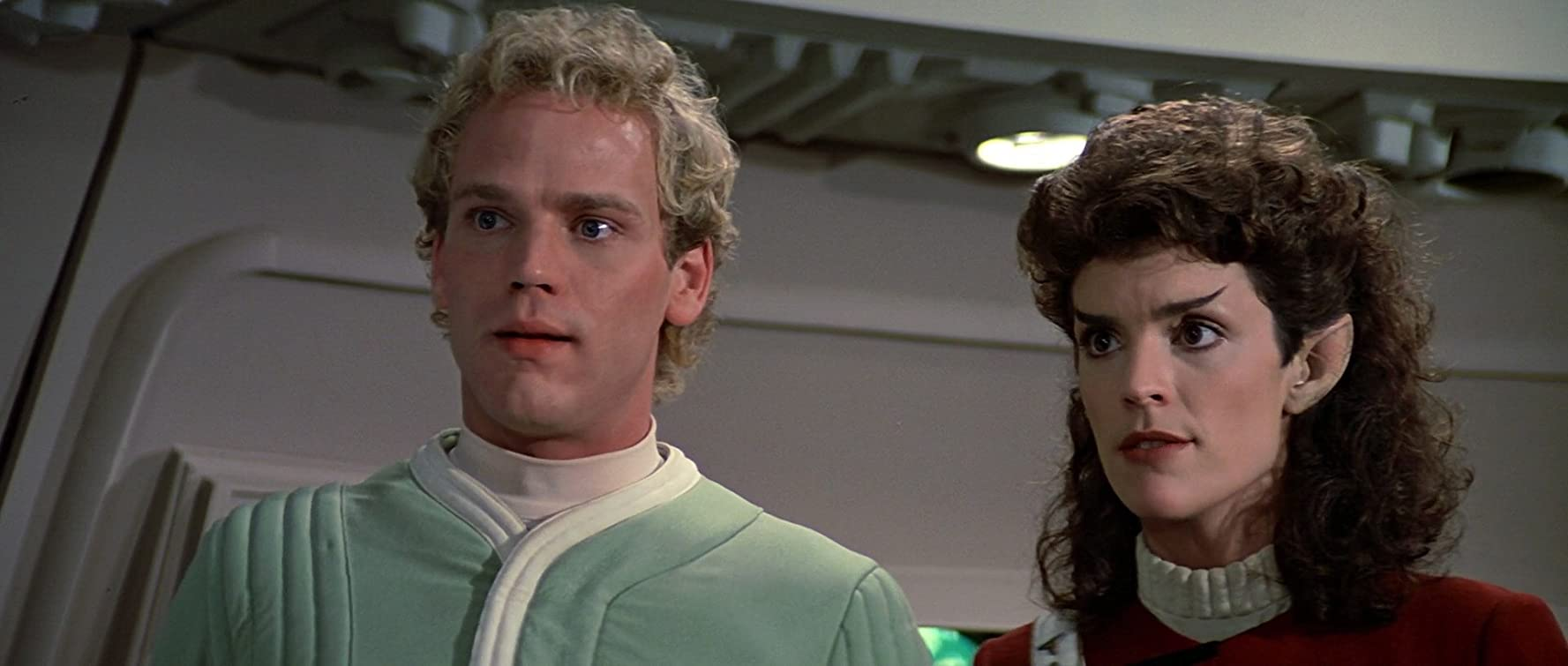 Merritt Butrick and Robin Curtis in Star Trek III: The Search for Spock (1984)