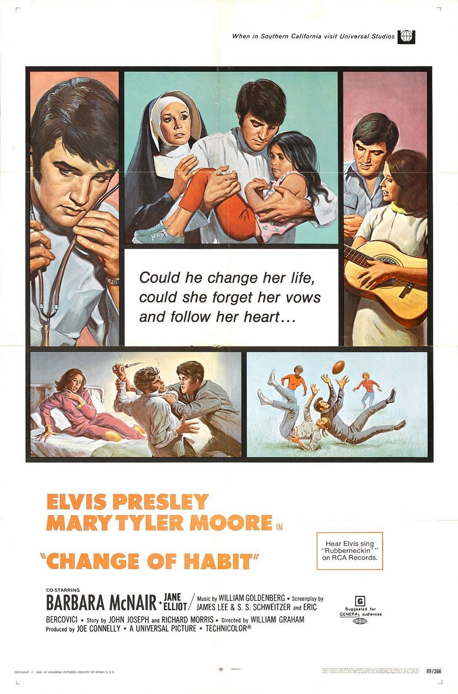 Elvis Presley and Mary Tyler Moore in Change of Habit (1969)