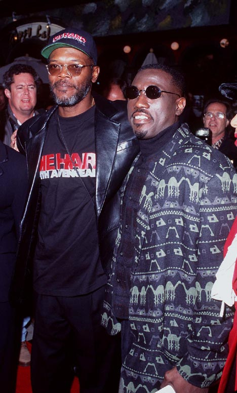 Samuel L. Jackson and Wesley Snipes at an event for Die Hard: With a Vengeance (1995)
