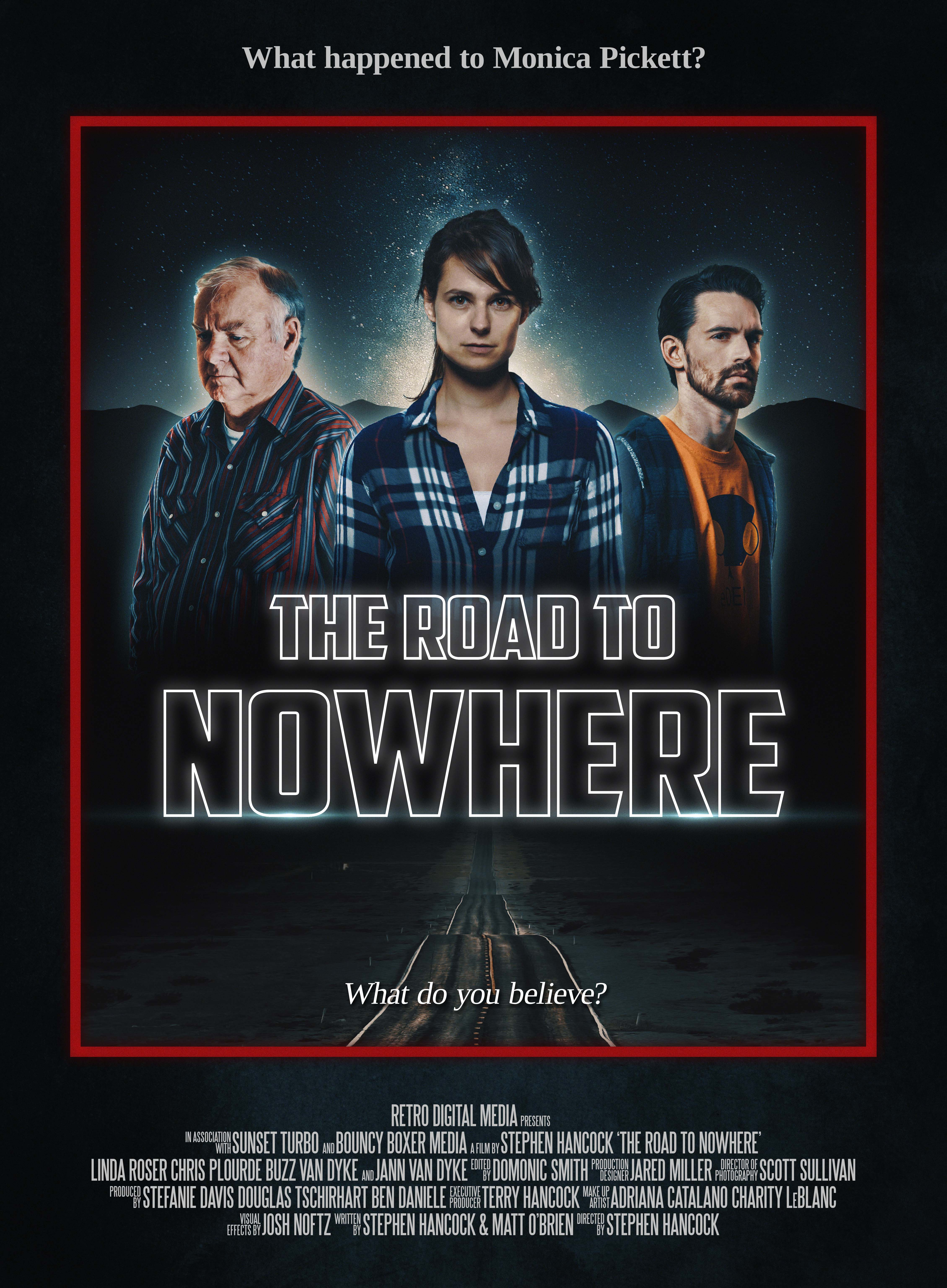 Linda Roser, Buzz Van Dyke, and Chris Plourde in The Road to Nowhere (2017)