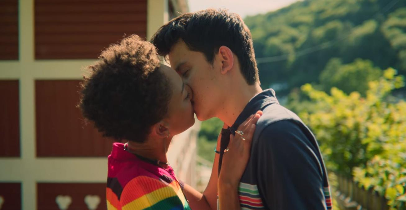 Patricia Allison and Asa Butterfield in Sex Education (2019)