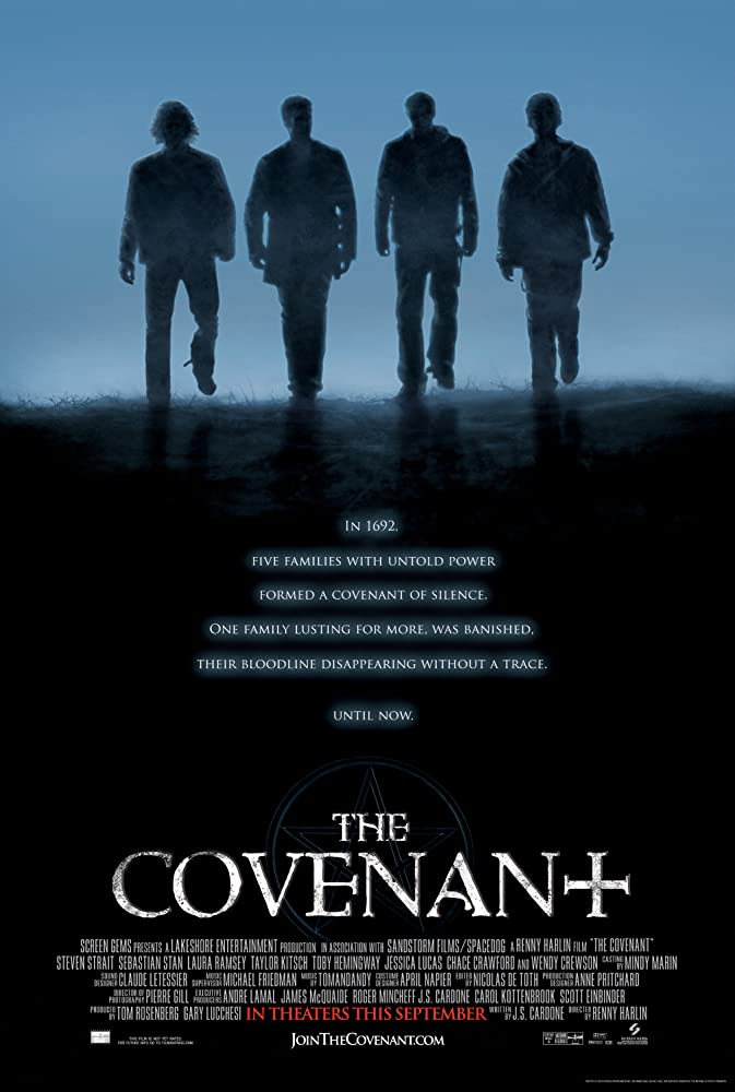 Kyle Schmid, Laura Ramsey, Sebastian Stan, Steven Strait, and Taylor Kitsch in The Covenant (2006)